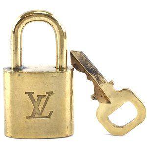 Louis Vuitton Gold Keepall Speedy Lock Key Set#319